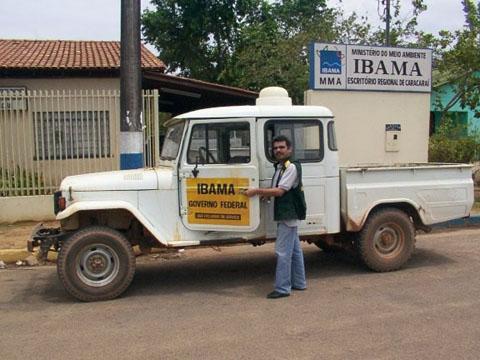 Escritório do IBAMA em Caracaraí, Roraima, em março de 2003.